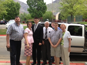 "It was a bittersweet moment at the MTC on May 15, 2013. Tyler was ""ready to go""! Mom wasn't so sure ;) ."